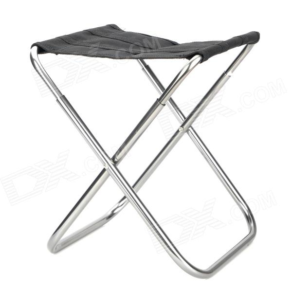 Admirable Multi Function Stainless Steel Canvas Folding Stool Black Silver Camellatalisay Diy Chair Ideas Camellatalisaycom