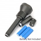 T1302 2000lm 5-Mode White Flashlight w/ 5 x Cree XM-L T6 - Grey (2/3 x 18650)