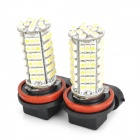 H11 5.5W 510lm 102-SMD 1210 luce bianca a LED Car Foglight-(DC 12 V / 2 PCS)