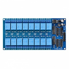 7034-16-Channel-12V-Relay-Module-Board-W-Power-LM2576-Optocoupler-Protection-Blue