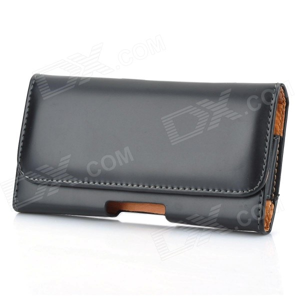 Protective PU Leather Case w/ Belt Clip for Nokia Lumia 920 - Black