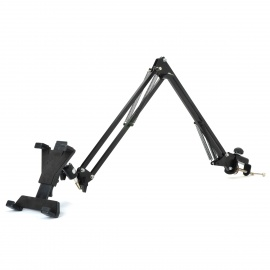 Universal-Table-Bed-360-Degree-Rotation-Telescopic-Mobile-Rack-for-Iphone-Ipad-Ipod-Black
