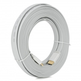 1080P-HDMI-14-Male-to-Male-Flat-Cable-White-(10m)