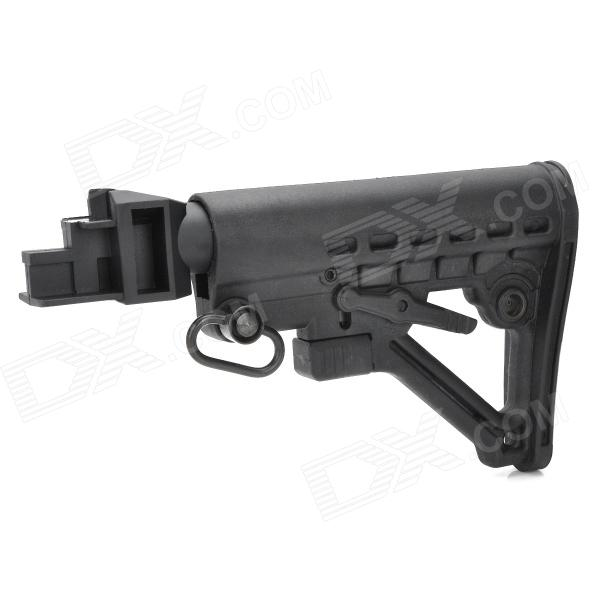 Nylon Plastic Butt Stock for AK Gun Series - BlackOther Accessories<br>Form  ColorBlackMaterial:Quantity:Packing List<br>