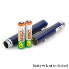 5mW 532nm Green Laser Pointer Pen - Deep Blue (2 x AAA)