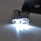 Mini 60X Microscope with LED Illumination + Currency Detecting UV Light for Iphone 4 / 4S