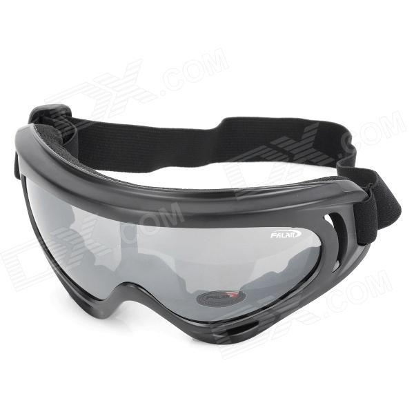 Motorcycle Riding Eye Protection Wind Proof PC Lens Goggles - Black - Free Shipping - DealExtreme