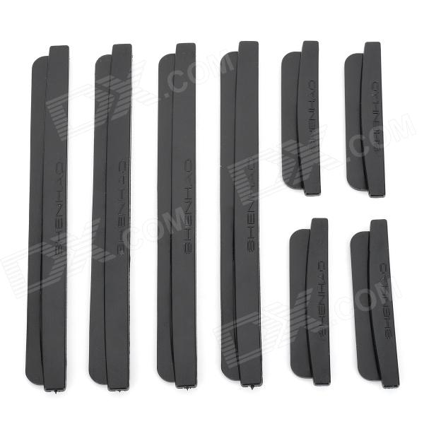 Buy AD-0809 Car Door Guard Protectors Stickers - Black (8 PCS) with Litecoins with Free Shipping on Gipsybee.com