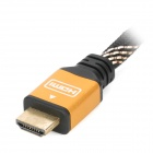 1080p 3D FHD HDMI Male to Male Connection Cable - Black + Golden (187cm)