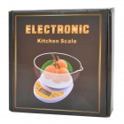 "WH-B04 Electronic 1.7"" LCD Digital Kitchen Scale w/ Tray - White + Yellow (5kg / 1g / 2 x AAA)"