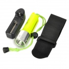 RAYSOON 800lm 3-Mode White Diving Flashlight w/ Cree XM-L T6 - Luminous Yellow + Silver (1 x 18650)