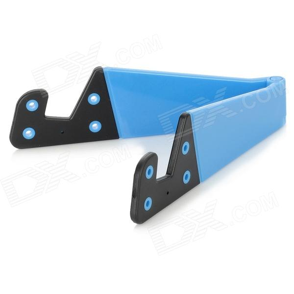 Stylish Folding Stand Holder Support for Iphone / Ipad / Samsung / HTC + More - Blue + Black