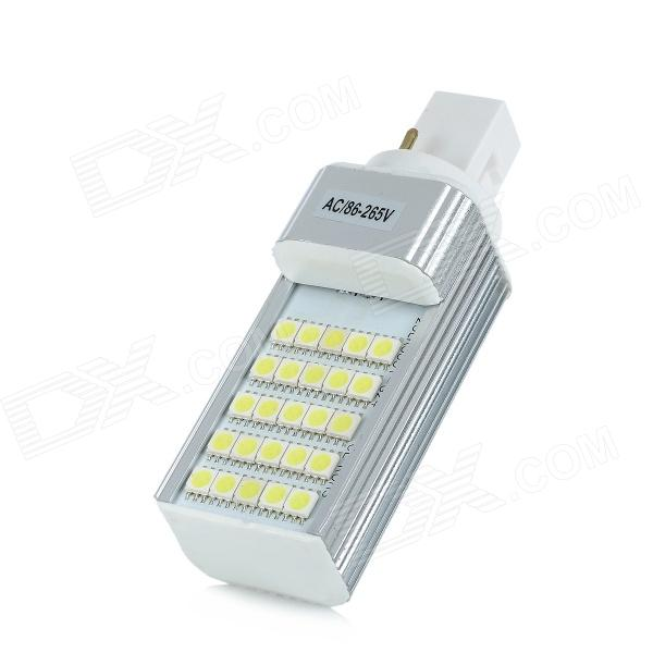 G24 5W 450lm 6300K 25-5050 SMD Cold White Light LampG24<br>MaterialAluminiumForm  ColorWhiteQuantity1EmitterPower5WConnector TypeG24Emitter Type5050 SMD LEDTotal Emitters25Power5Color BINCold WhiteWavelengthNPacking List<br>