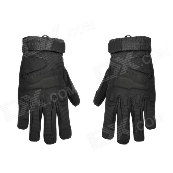 Buy Outdoor Mountaineering Full-Finger Windproof Gloves for Men - Black (XL) with Litecoins with Free Shipping on Gipsybee.com