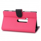 Suojaava Flip-Open PU Leather Case w / korttipaikka Nokia Lumia 920 - Deep Pink