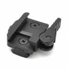 Quick Release Front Rear Mount for 21mm Rifle Weaver Rails - Black