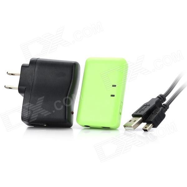 Recargable receptor inalámbrico de música bluetooth con jack de 3,5 mm para iphone + ipad + ipod - verde