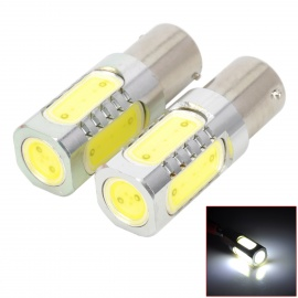 1156-5W-480lm-5-LED-White-Light-Car-Turning-Brake-Signal-Bulbs-Yellow-2b-Silver