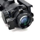 Sniper LT-4X32 4X Magnification Red / Green / Blue Optical Aim Sight - Black (2 x CR2032)