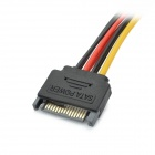 SATA 15-Pin Male to 2 x IDE 4-Pin Female Adapter Cable - Black + Red + Yellow (20cm)