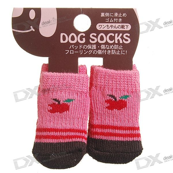 Japan-Design Cute Socks for Dogs/Cats - Small (4-Sock Set)