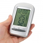 "QF665 Multifunktions 2,8 ""-LCD-Bildschirm-Thermometer-Hygrometer - Silber + Grau"