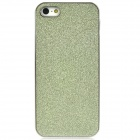 Shimmering Powder Pattern Protective Plastic Back Case for Iphone 5 - Yellowish Green + Silver