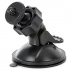 HongChuang XQ55-C 360 Degrees Adjustable ABS Suction Cup Holder Mount for GPS / Car DVR - Black