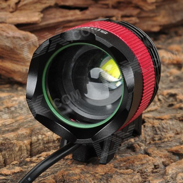 SingFire SF-539 4-Mode White T6 LED Zooming Bike Light - Black + Red