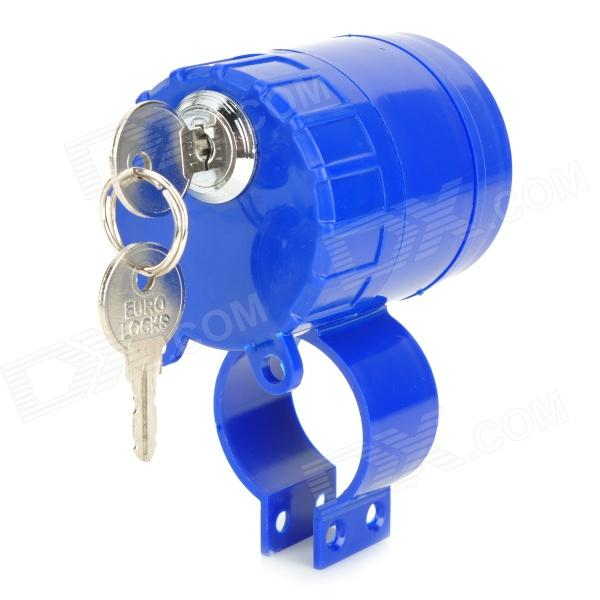 Anti-Theft Rainproof Alarm Lock for Bicycle Motorcycle - BlueBike Accessories<br>Model:Quantity:Material:Form  ColorBluePacking List<br>