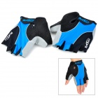 NUCKILY Men's Cycling Bicycle Half-Finger Gloves - Blue + Black (Size L)
