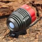 UltraFire 860lm 3-Mode White Bicycle Headlamp w/ Cree XM-L T6 - Red + Black (4 x 18650)