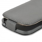Protective Leather Case for Samsung i8190 Galaxy S3 Mini - Black