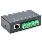 4-Channel Passive Twisted-Pair Video Transmission Transceiver - Black