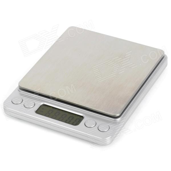 I-2000 1.7 inches LED Digital Kitchen Desktop Scale (2*AAA / 2000g / 0.1g)
