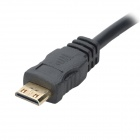 Mini HDMI na VGA Female Video Converter kabel - černá (18cm)