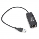 USB 3.0 a 10/100 RJ45 LAN 1000Mbps Ethernet Network Adapter - Negro