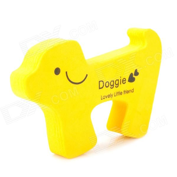 Dog Shaped Baby Door Guards Finger Protector Stopper - YellowTravel Tools<br>Model32Quantity1 piece(s) per packColorYellowMaterialEVASpecificationPrevent the door closed suddenly to hurt your babys fingers or accidental injury.CertificationsFDAPacking List1 x Door guards<br>
