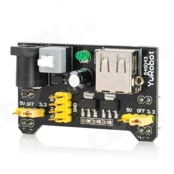 5V / 3.3V Breadboard Dedicated Power Module - Black + Yellow for sale in Bitcoin, Litecoin, Ethereum, Bitcoin Cash with the best price and Free Shipping on Gipsybee.com