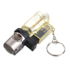 1300 Centigrade Windproof Blue Butane Jet Torch Lighter w / Keychain - Transparent + Silver + Black