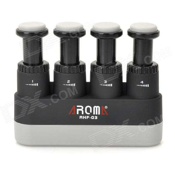 Buy AHF-03 Guitar Finger Exerciser Strengthener - Black + Grey with Litecoins with Free Shipping on Gipsybee.com