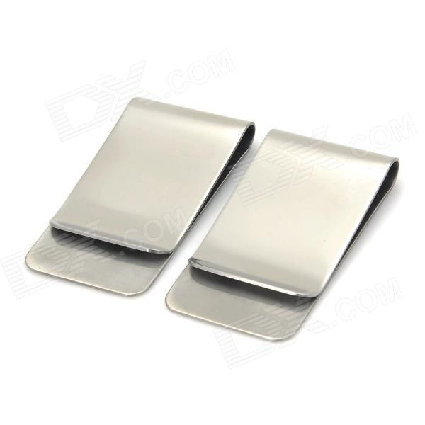 Buy Stainless Steel Money Clip - Silver (2 PCS) with Litecoins with Free Shipping on Gipsybee.com