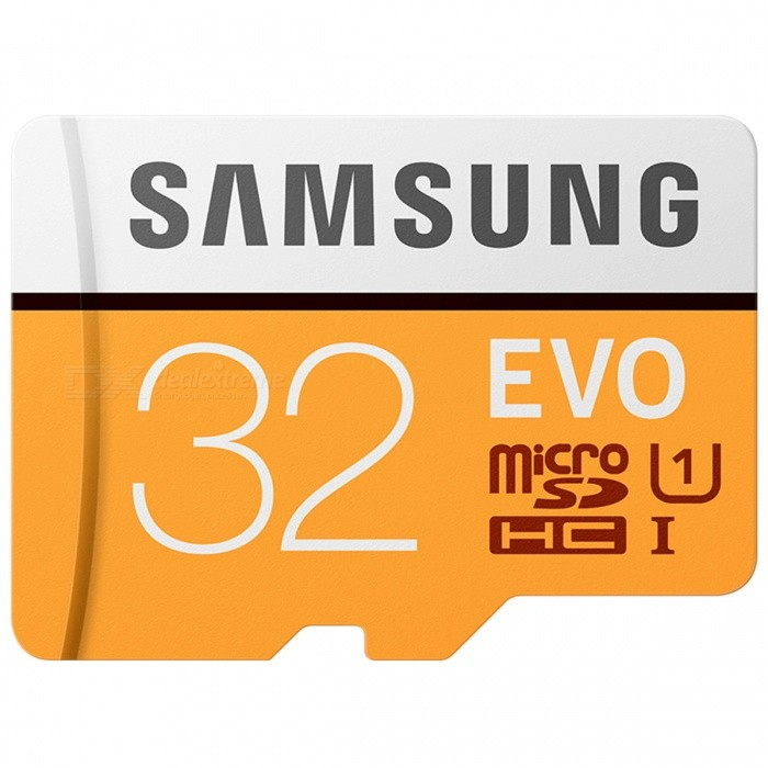 Buy Samsung Micro SD / TF Memory Card - Black + Orange (32GB / Class 10) with Litecoins with Free Shipping on Gipsybee.com