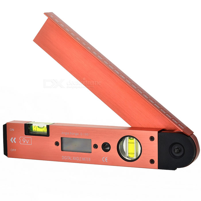 Handy Digital Angle Meter with Level (0-185 Degrees)
