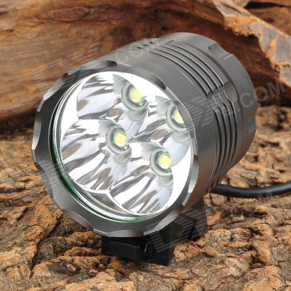 2950lm 3-Mode White Bike Light & Headlight w/ Cree XM-L T6 - Grey