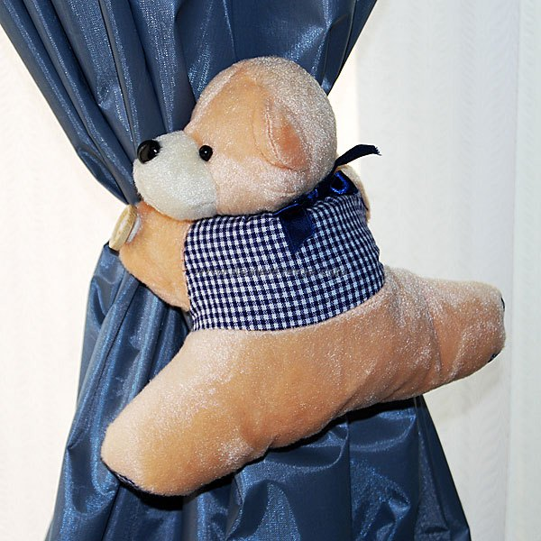 Cute Bear Curtain Clasps/Holders (2-Pack)Decorations &amp; Displays<br>Form  ColorWhiteDimensionsPacking List<br>
