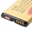 C-S2-GD 2430mAh 3.7V Replacement Lithium Battery for Blackberry C-S2 - Golden