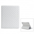 Diamond-Shape-Protective-PU-Leather-Flip-Open-Case-for-The-New-Ipad-Ipad-2-Ipad-1-White