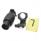 3X Magnification Gun Aiming Sight for 20mm Rifle - Black