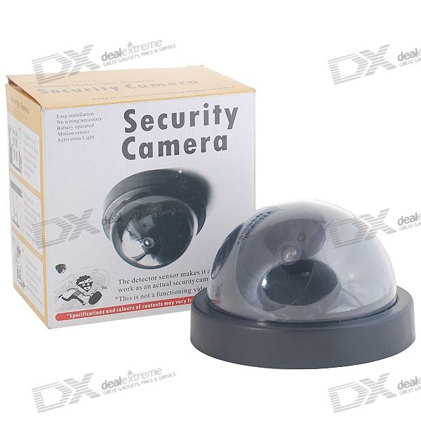 PIR Motion Activated Realistic Dummy Decoy Security Camera with Blinking LED (2*AA)
